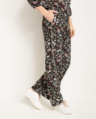 Zwarte soepele broek